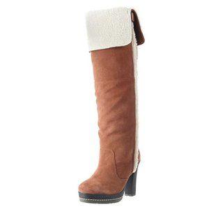 Kelsi Dagger Brooklyn ROZELLE Suede High Heel Boot